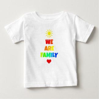 We Are Family Rainbow Sunshine Adoption Design Baby T-Shirt