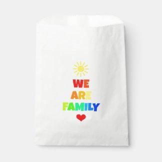 We Are Family Rainbow Sunshine Adoption Design Favour Bag