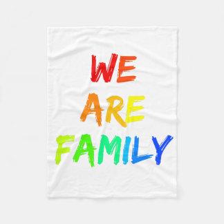 We Are Family Rainbow Sunshine Adoption Design Fleece Blanket