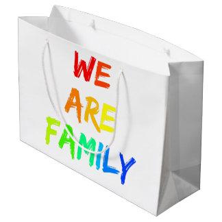 We Are Family Rainbow Sunshine Adoption Design Large Gift Bag