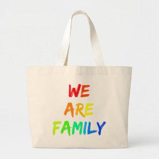 We Are Family Rainbow Sunshine Adoption Design Large Tote Bag