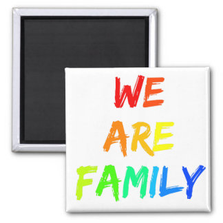 We Are Family Rainbow Sunshine Adoption Design Magnet
