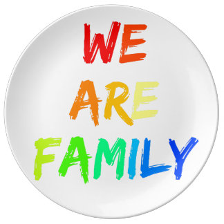 We Are Family Rainbow Sunshine Adoption Design Plate