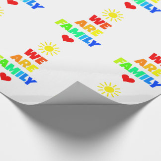 We Are Family Rainbow Sunshine Adoption Design Wrapping Paper