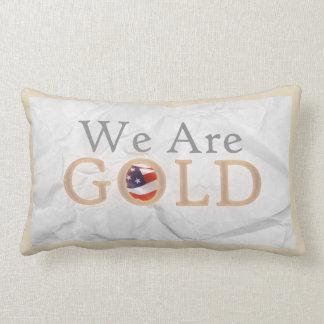 WE ARE GOLD LUMBAR PILLOW