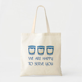We Are Happy To Serve You NYC Greek Coffee Cup Bag