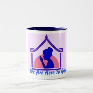 We Are Here To Grow Two-Tone Coffee Mug