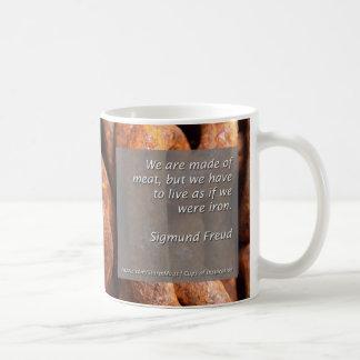 We are made of meat coffee mug