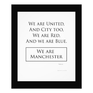 "'We Are Manchester' quality photo print (20""x 24"")"