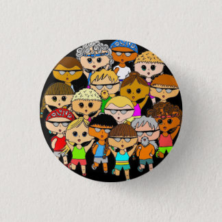 We are marathon runners little button pin