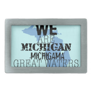 We Are Michigan Michigama Great Waters Belt Buckle