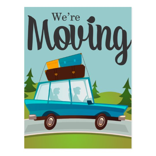 We Are Moving Announcement Postcard