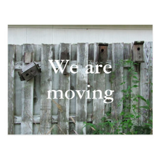 We are moving ~ postcard