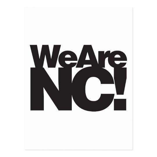 We Are North Carolina Postcard
