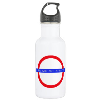 """""""WE ARE NOT AFRAID"""" Water Bottle"""