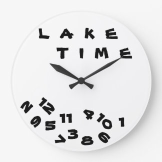 """WE ARE ON ***LAKE TIME***"" WITH THIS COOL CLOCK"