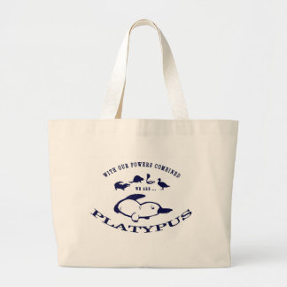 We are Platypus Large Tote Bag