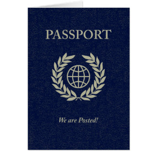 we are posted passport card