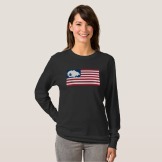 WE ARE STILL HERE! Navajo Nation on American Flag T-Shirt
