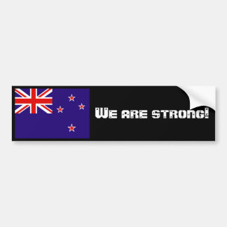 We are strong! bumper sticker