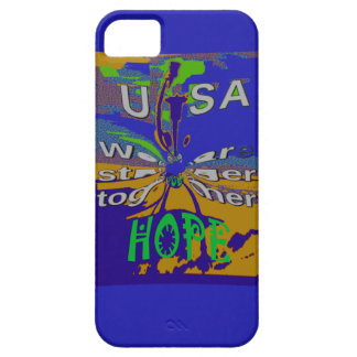 We are stronger together funny USA Hope pattern de iPhone 5 Cases