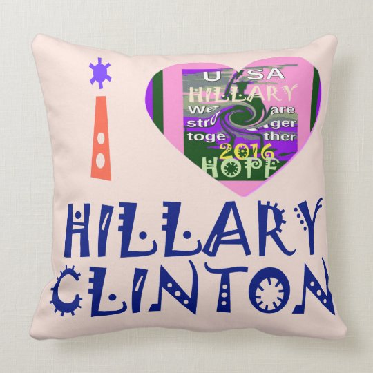 We Are Stronger Together Vote 4 Hillary Gift Ideas Throw Pillow