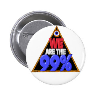 We are the 99 Occupy wall street protest Button