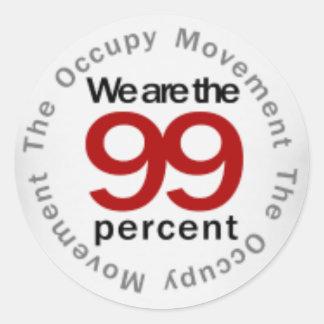 We are the 99 percent round sticker