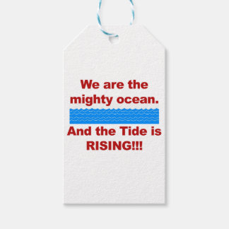 We Are the Mighty Ocean and the Tide is Rising Pack Of Gift Tags