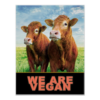 WE ARE VEGAN POSTER