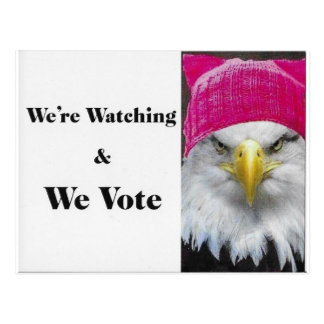 We Are Watching and We Vote! Postcard