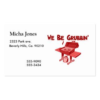 We Be Grubbin' Business Card