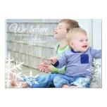 We Believe   Holiday Photo Greeting Custom Invite