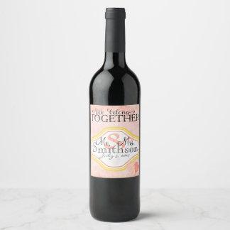 We Belong Together Wine (or Champagne) Label