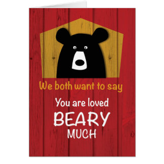 We Both Want to Say, Valentine Bear Wishes Card