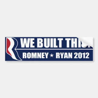 We Built This! Bumper Sticker