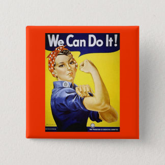 We Can Do It! 2 Inch Square Button