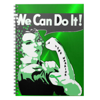 We Can Do It, Bandanna Lady Lyme Disease Notebook