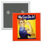 We Can Do It! Pinback Button