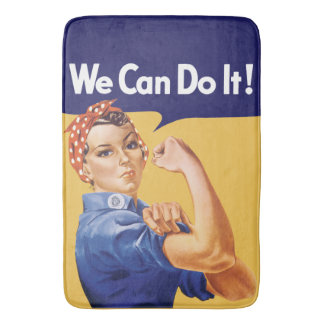 We Can Do It! Rosie the Riveter Bath Mat