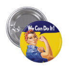 We Can Do It! Rosie the Riveter 1 Inch Round Button