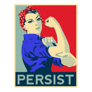 We Can Do It: Rosie the Riveter Persists Postcard