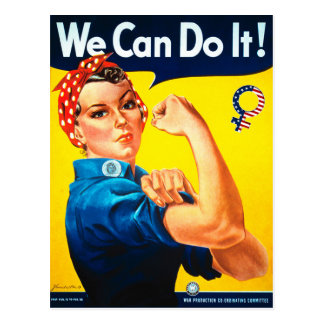 We Can Do It! Rosie the Riveter Postcard