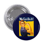 We Can Do It! Rosie the Riveter Vintage WW2 1 Inch Round Button