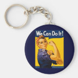 We Can Do It! Rosie the Riveter Vintage WW2 Keychain