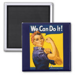 We Can Do It! Rosie the Riveter Vintage WW2 Fridge Magnets