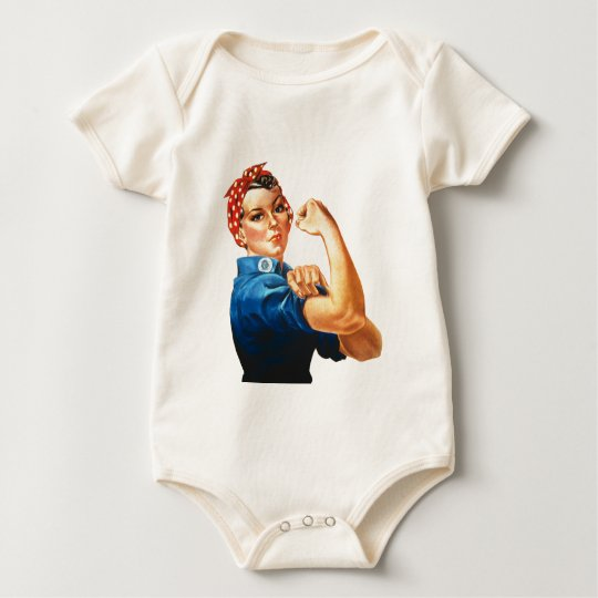 We Can Do It Rosie the Riveter Women Power Baby Bodysuit
