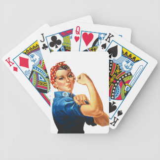 We Can Do It Rosie the Riveter Women Power Bicycle Playing Cards