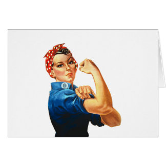 We Can Do It Rosie the Riveter Women Power Card