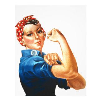 We Can Do It Rosie the Riveter Women Power Letterhead